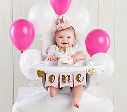 Gold Glitter 1st Birthday Décor Kit