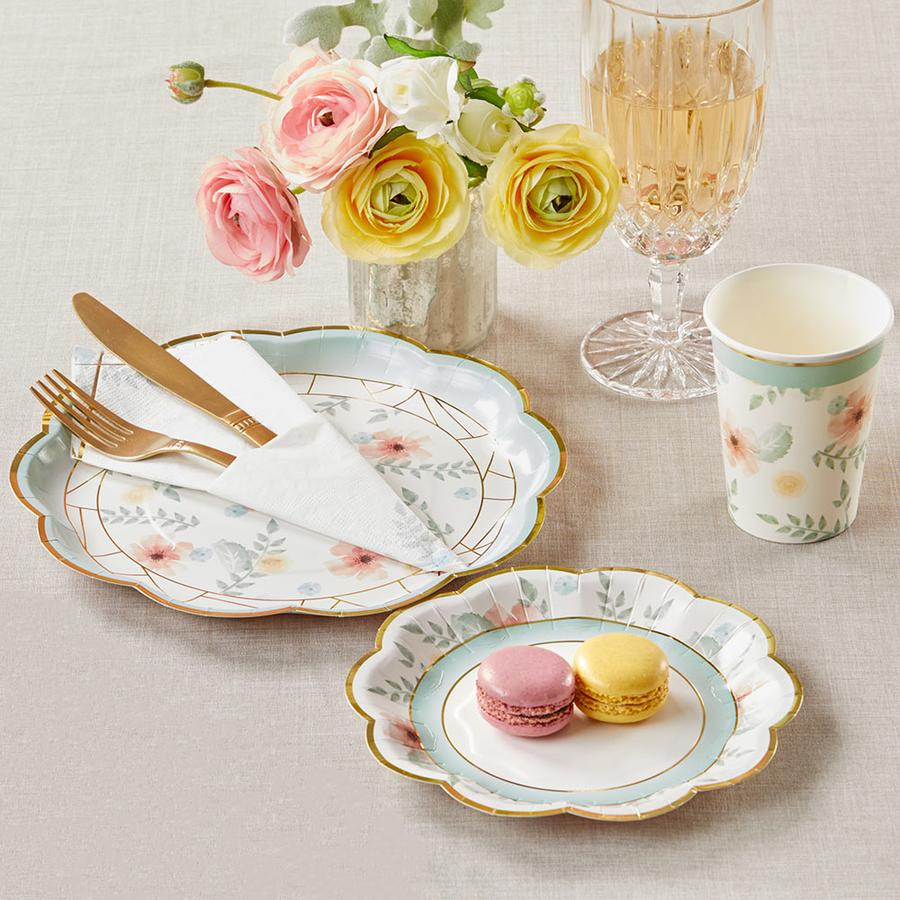 Geometric Floral Tableware Set