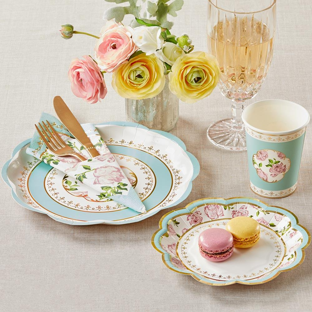 Tea Time Whimsy Tableware Set - Blue