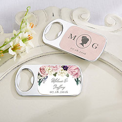 Personalized Silver Bottle Opener - English Garden