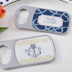 Personalized Silver Bottle Opener - Nautical Wedding