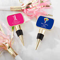 Personalized Gold Bottle Stopper - Birthday