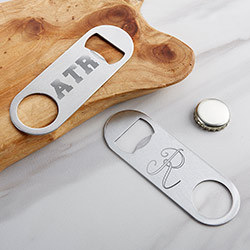 Personalized Silver Oblong Bottle Opener - Engraved