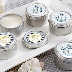 Personalized Travel Candle - Kates Nautical Wedding Collection