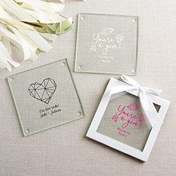 Personalized Glass Coaster - Elements (Set of 12)