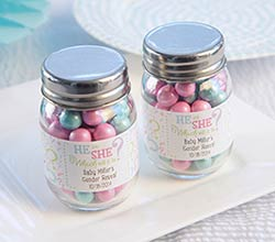 """Gender Reveal"" Personalized Mason Jar (Set of 12)"