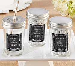 Personalized 8 oz. Glass Mason Jar - Chalk (Set of 12)