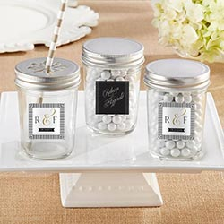 Personalized 8 oz. Glass Mason Jar - Classic (Set of 12)