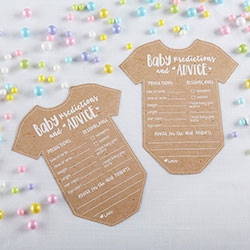 Baby Prediction Advice Card - Onesie Shape (Set of 50)