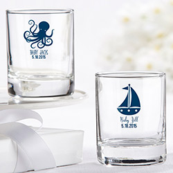 Personalized Shot Glass/Votive Holder - Kates Nautical Baby Shower Collection