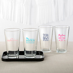 Personalized 16 oz. Pint Glass - Custom Logo
