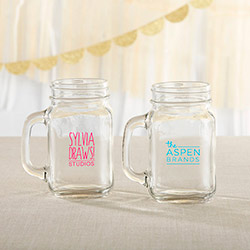 Personalized 16 oz. Mason Jar Mug - Custom Logo