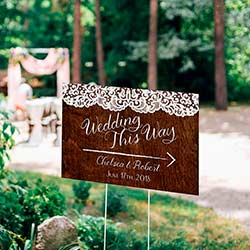 Personalized Directional Sign (18x12) - Country