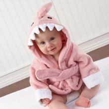 """Let the Fin Begin"" Pink Shark Robe (0-9m)"